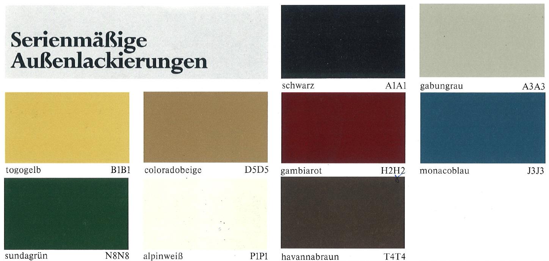 Farben Und Lackcodes